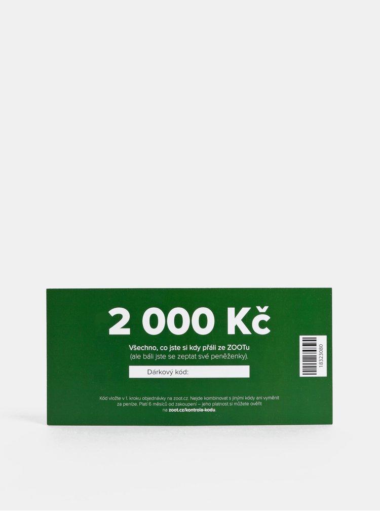 Vánoční dárkový poukaz na ZOOT v hodnotě 2 000 Kč