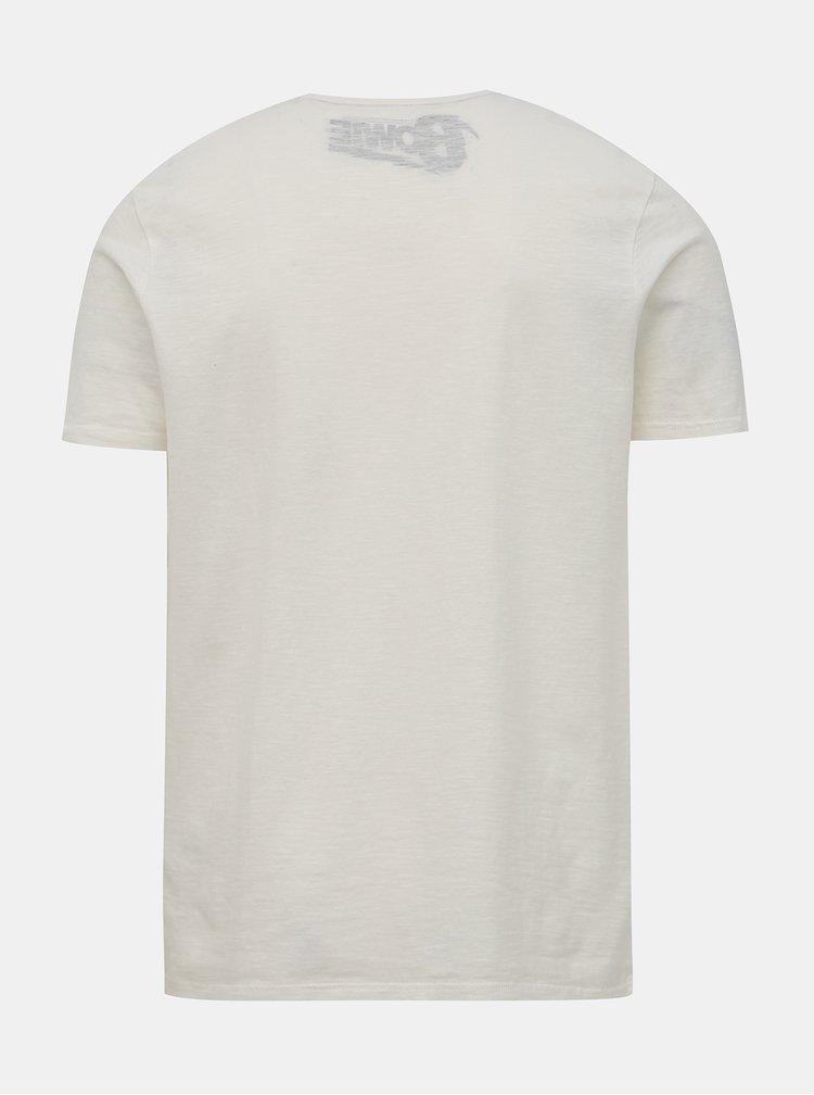 Biele tričko s potlačou Jack & Jones Brayden