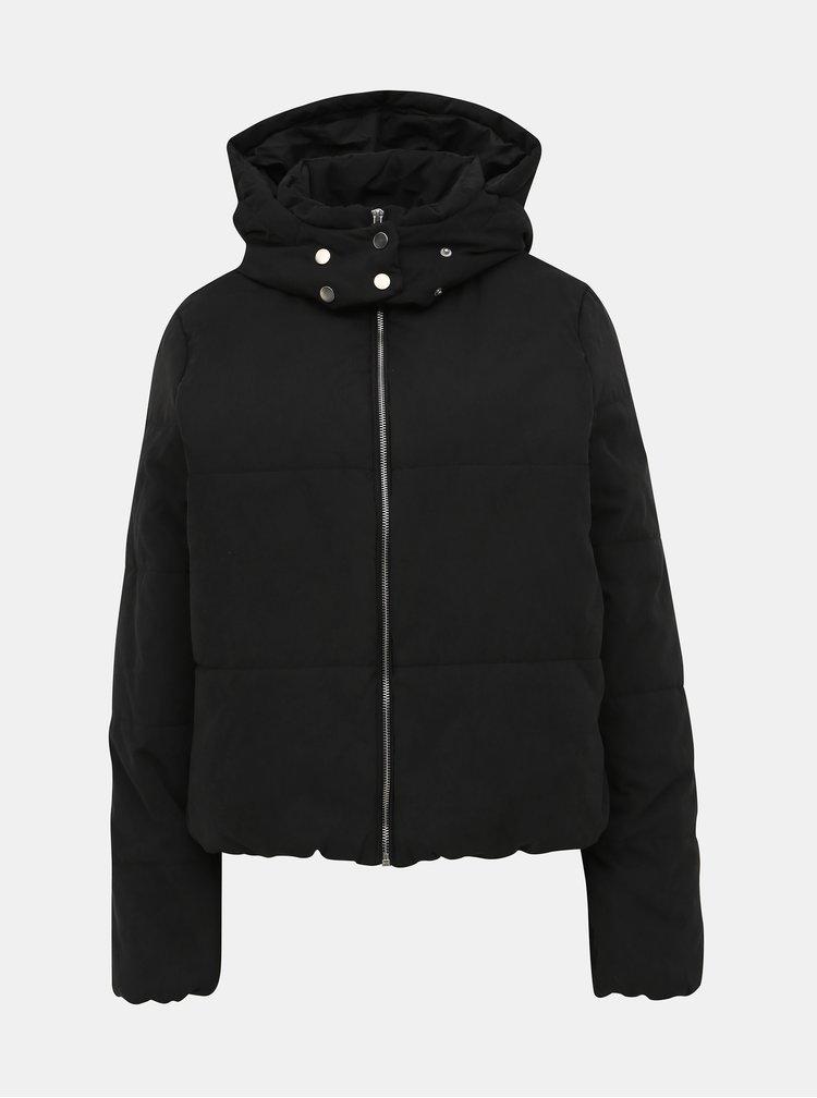 Černá prošívaná zimní bunda VILA Leyda