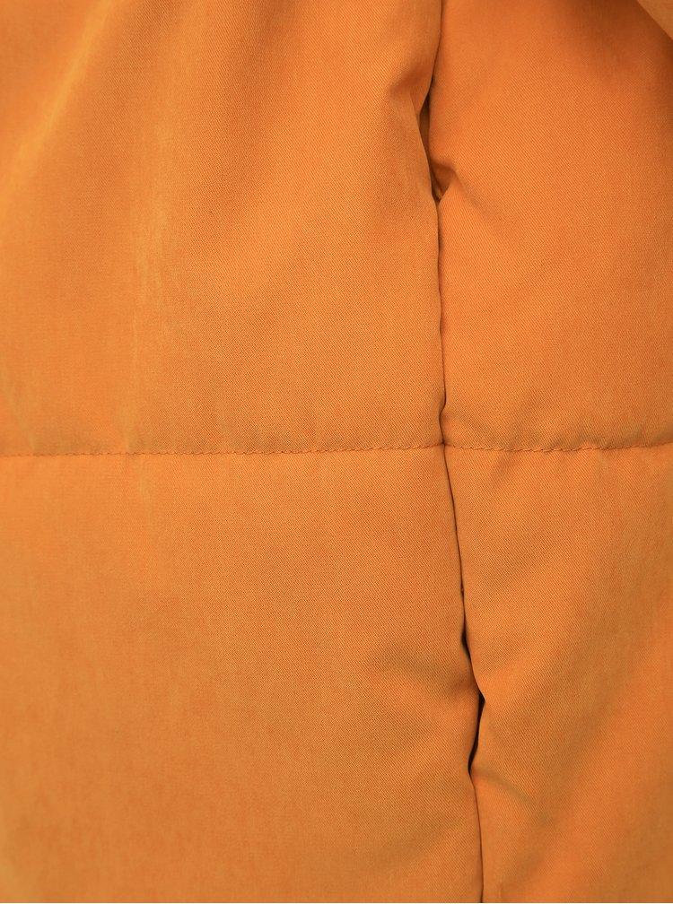 Hořčicová prošívaná zimní bunda VILA Leyda