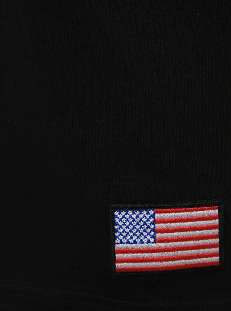 Černé tričko s potiskem Jack & Jones Berkan NASA