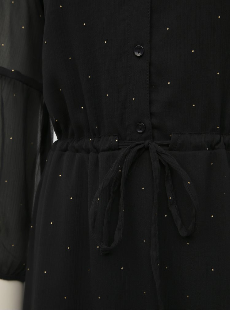 Čierne bodkované midišaty VILA Hadi