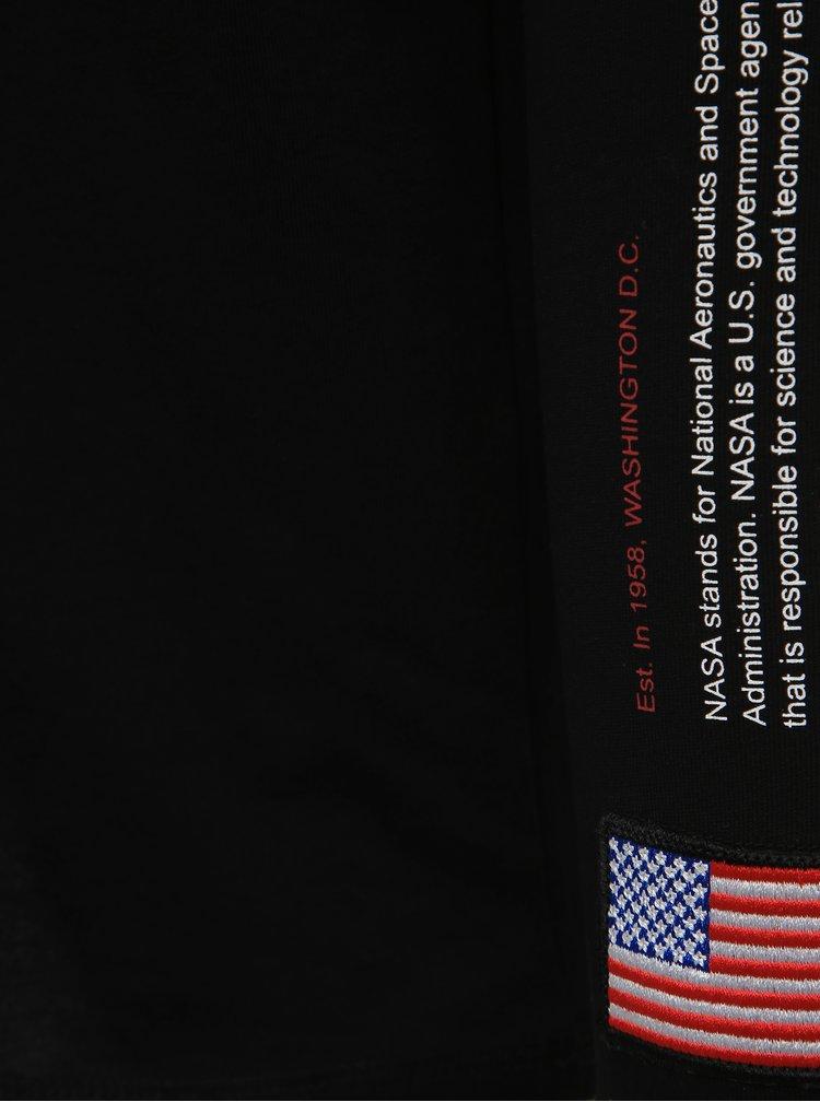Pánske čierne tričko NASA Jack & Jones