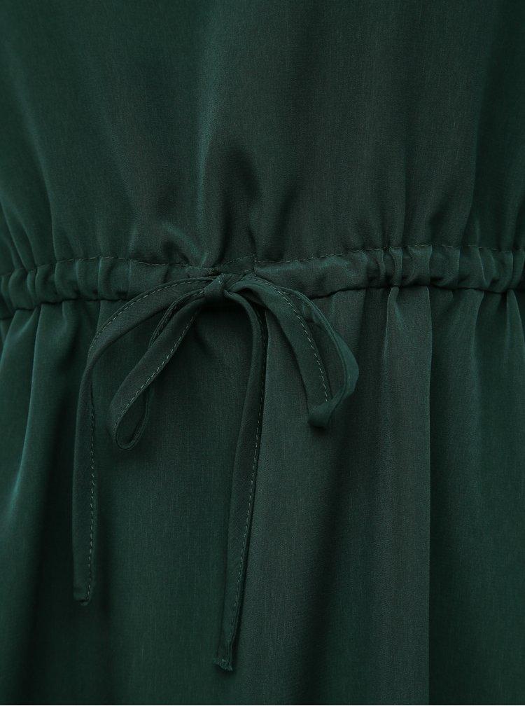 Tmavě zelené šaty VILA Joan