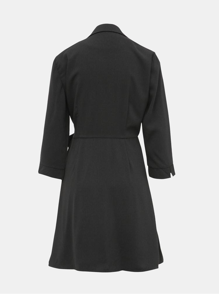 Černé zavinovací šaty VILA Dwell