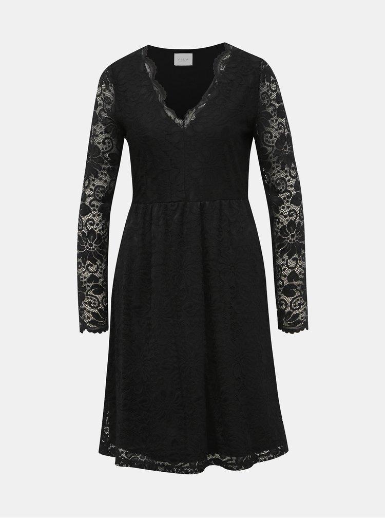 Černé krajkové šaty VILA Kaisa