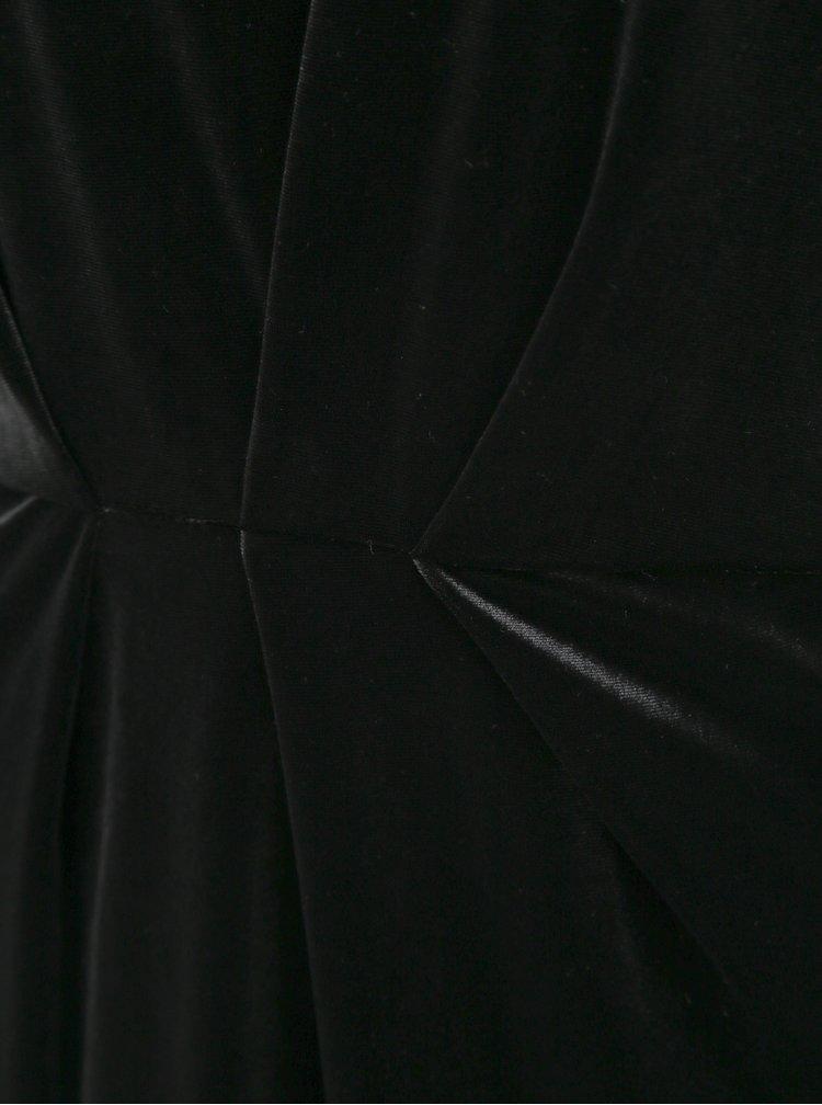 Černé sametové šaty VILA Minny