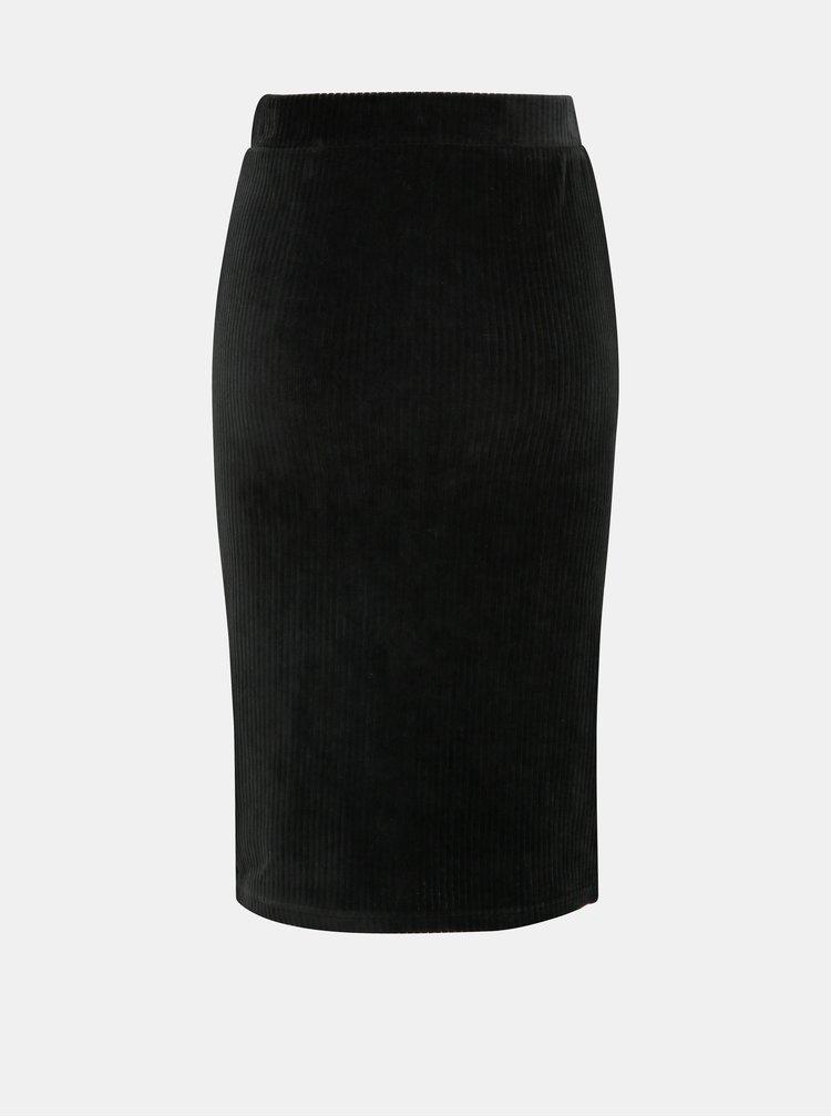 Černá manšestrová pouzdrová sukně ONLY Cosy