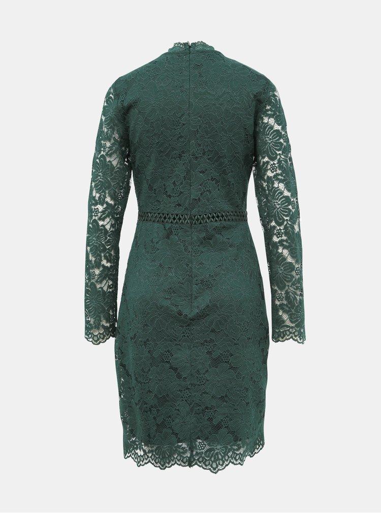 Tmavozelené krajkové šaty VILA Sirita