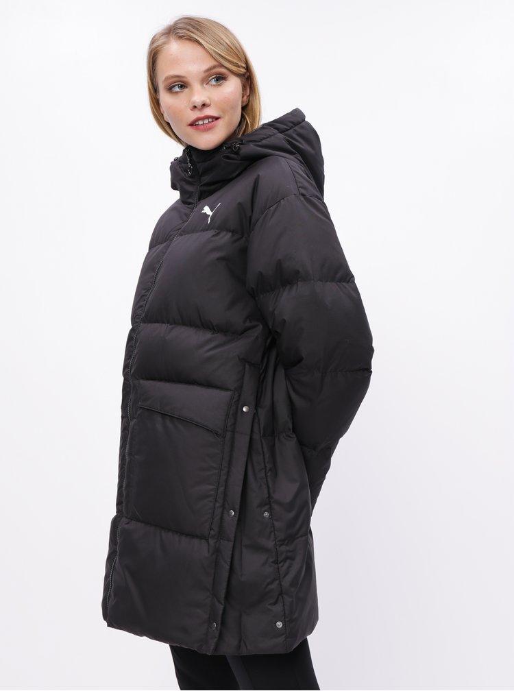 Černý dámský péřový zimní kabát Puma