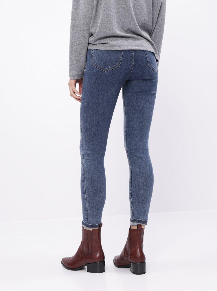 Modré zkrácené skinny fit džíny TALLY WEiJL