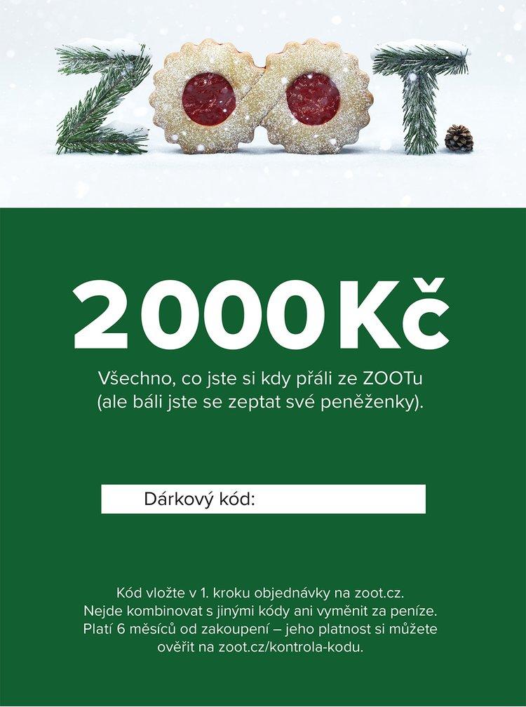Vánoční elektronický poukaz na ZOOT v hodnotě 2000 Kč