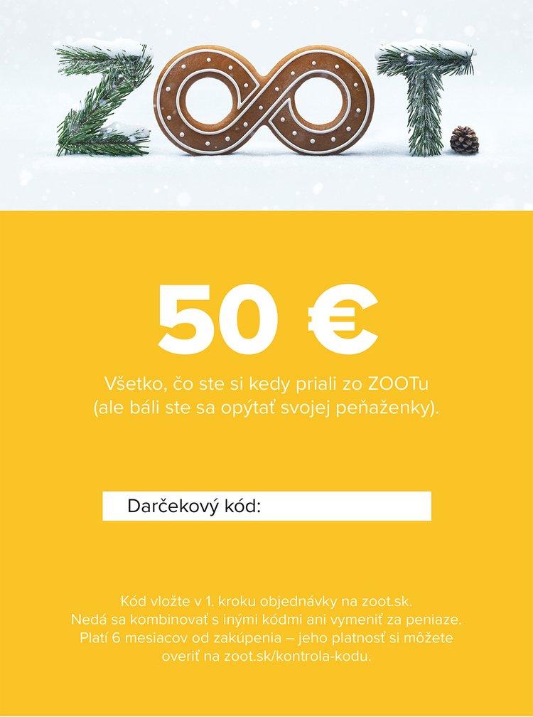 Vianočný elektronický poukaz zo ZOOTu v hodnote 50 €