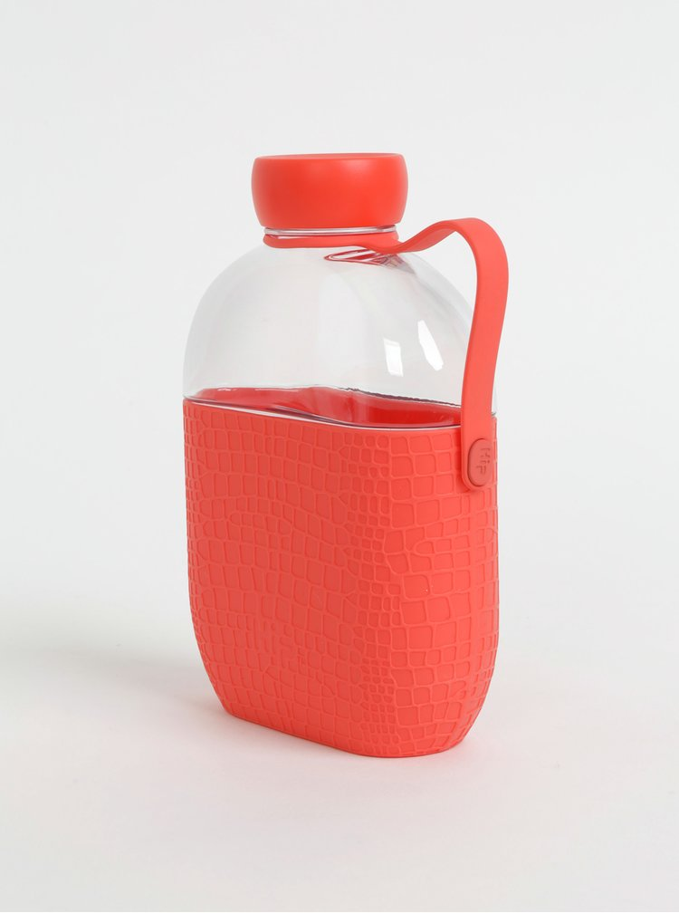 Láhev na vodu s červeným silikonovým obalem s krokodýlím vzorem HIP 650 ml