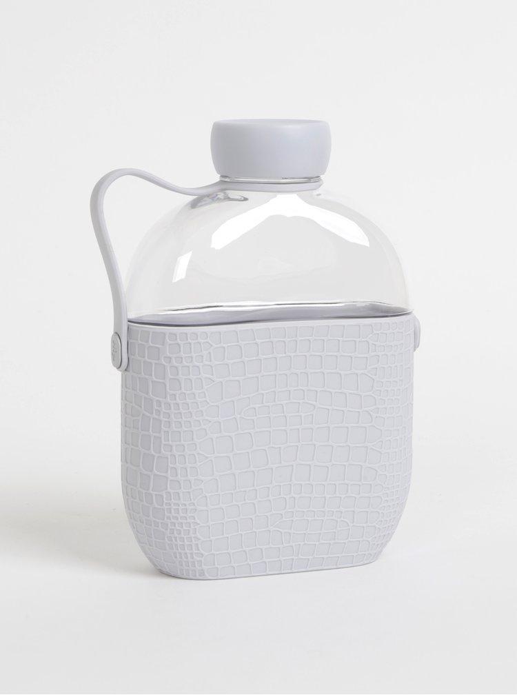 Láhev na vodu s šedým silikonovým obalem s krokodýlím vzorem HIP 650 ml
