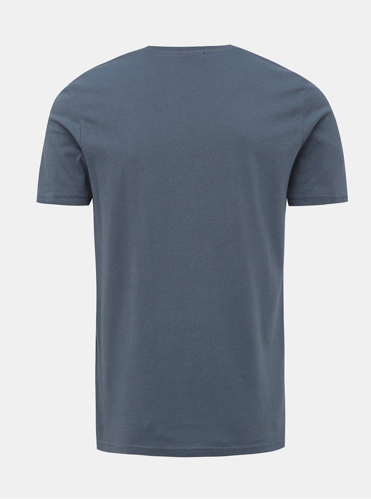 Šedé slim fit tričko Jack & Jones Allas