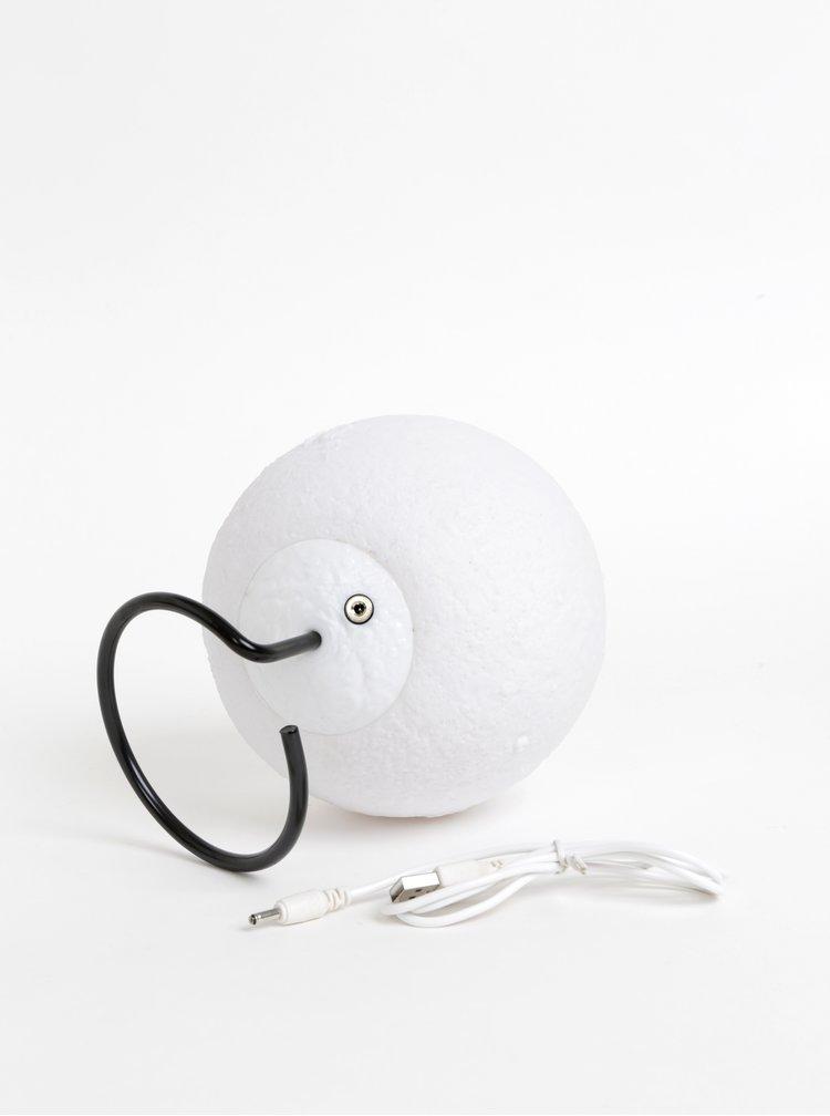 Bílá lampa ve tvaru měsíce Gift Republic