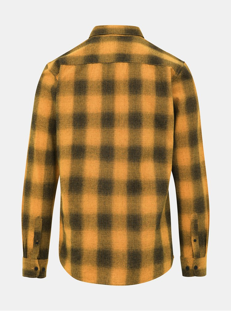 Žlutá kostkovaná slim fit košile ONLY & SONS Ewan