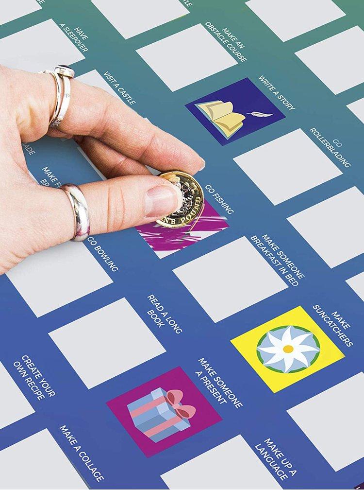 Fialový stírací plakát Gift Republic 100 dětských aktivit