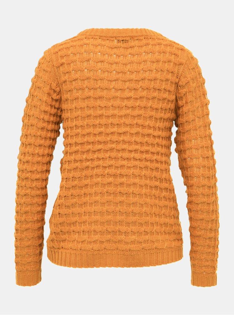 Horčicový sveter Jacqueline de Yong Asher