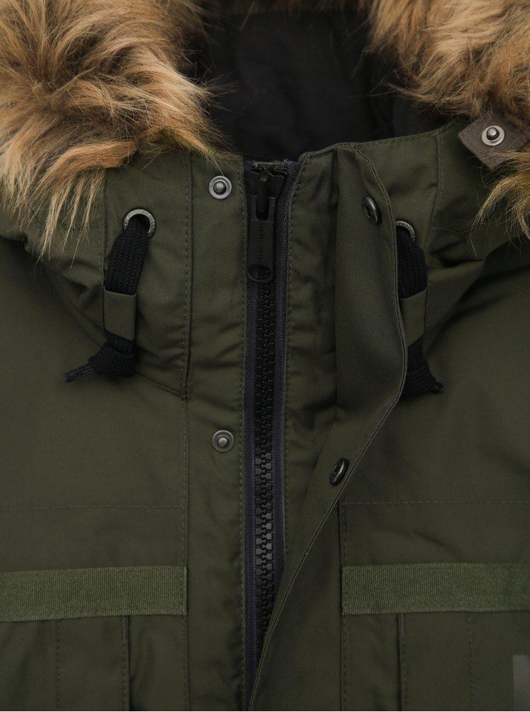 Khaki pánská nepromokavá zimní bunda HELLY HANSEN Coastal