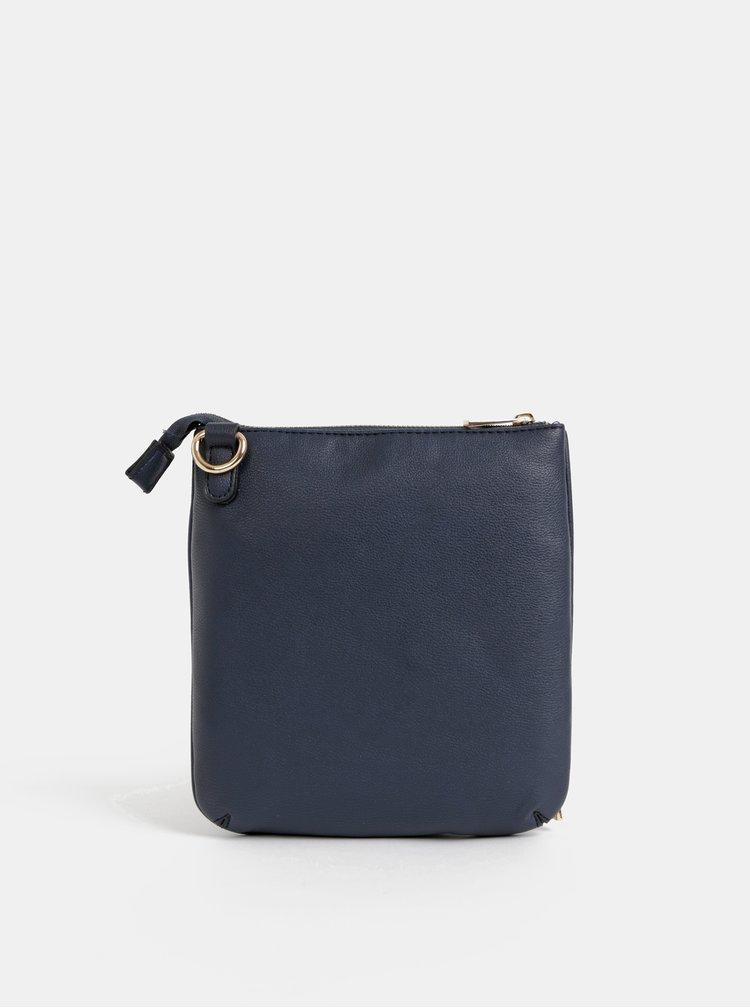Tmavě modrá crossbody kabelka s powerbankou, zápisníkem, propiskou, světýlkem a zrcátkem Something Special