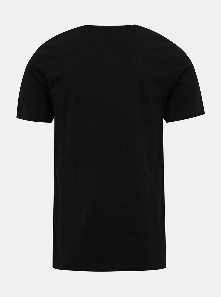 Černé tričko s potiskem Jack & Jones Booster
