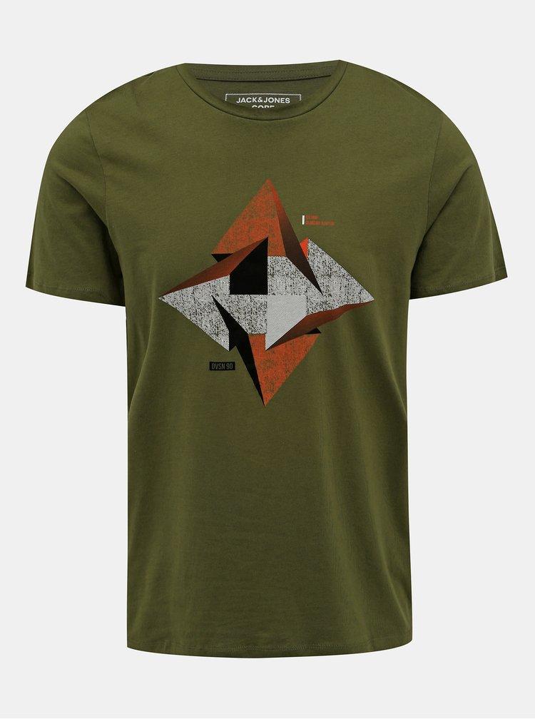 Zelené tričko s potlačou Jack & Jones Booster