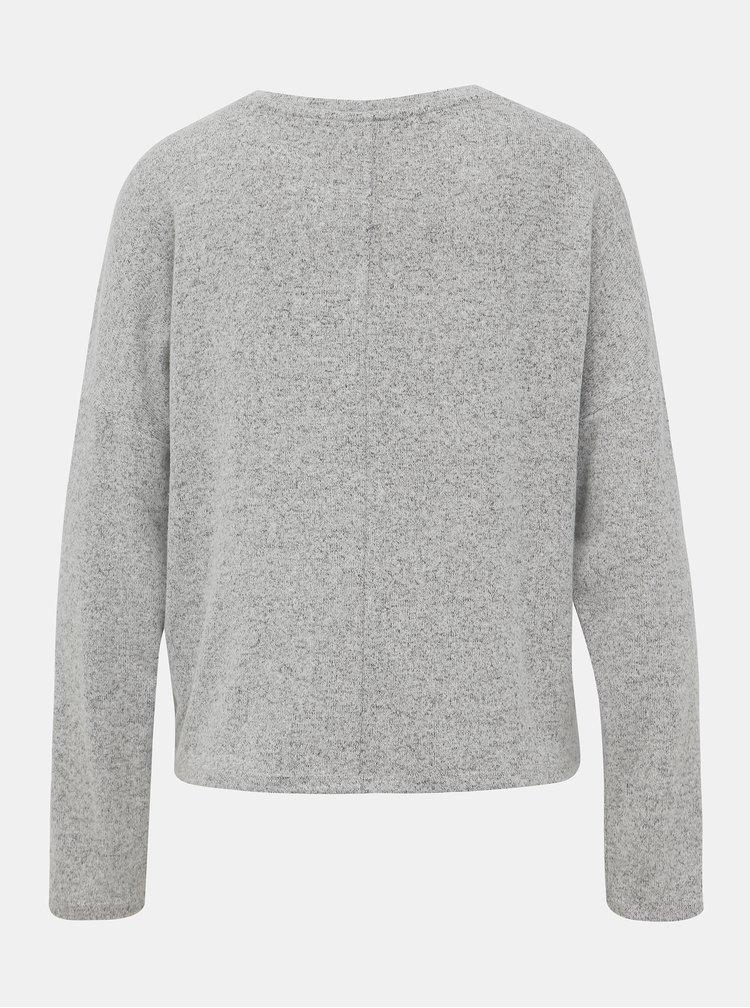 Šedý basic sveter VERO MODA Belinda