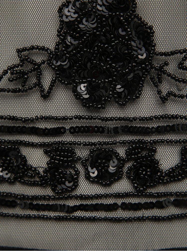 Čierna blúzka s korálkami a flitrami TALLY WEiJL
