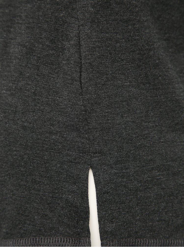 Tmavošedé basic tričko TALLY WEiJL