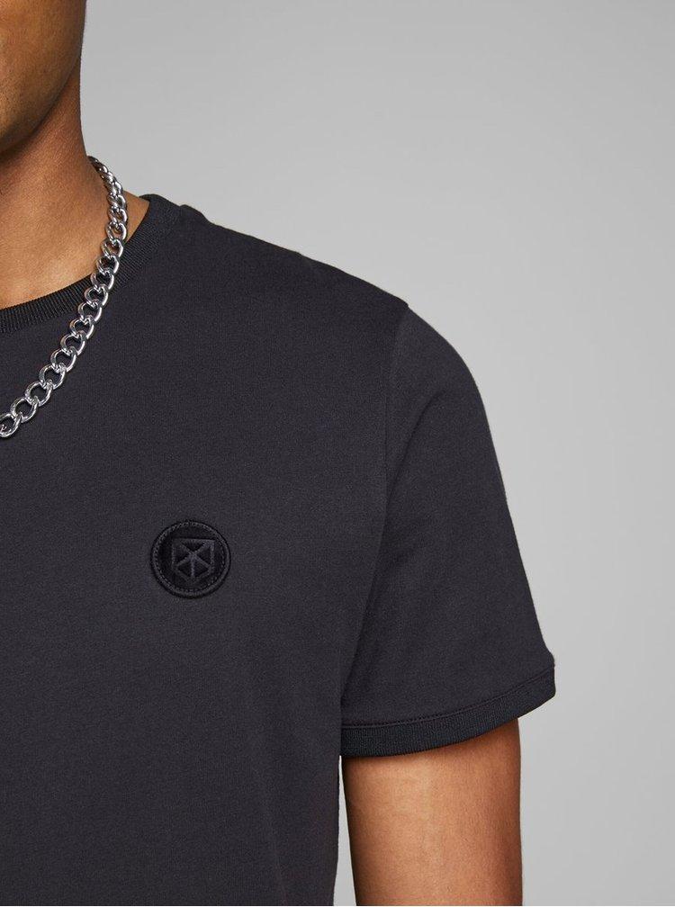 Černé slim fit tričko Jack & Jones Booker