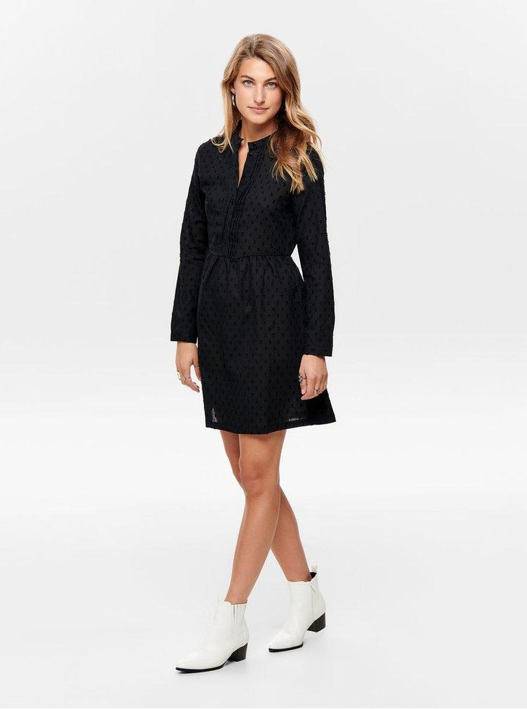 Čierne vzorované košeľové šaty Jacqueline de Yong May