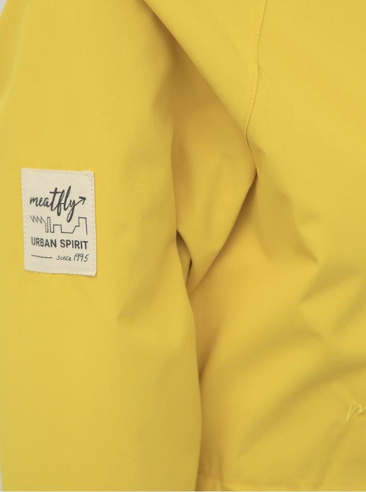 Žltá dámska vodeodolná parka Meatfly Xita