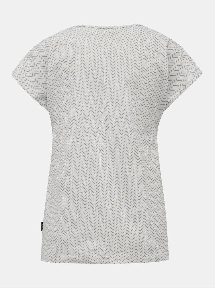 Biele dámske vzorované tričko SAM 73