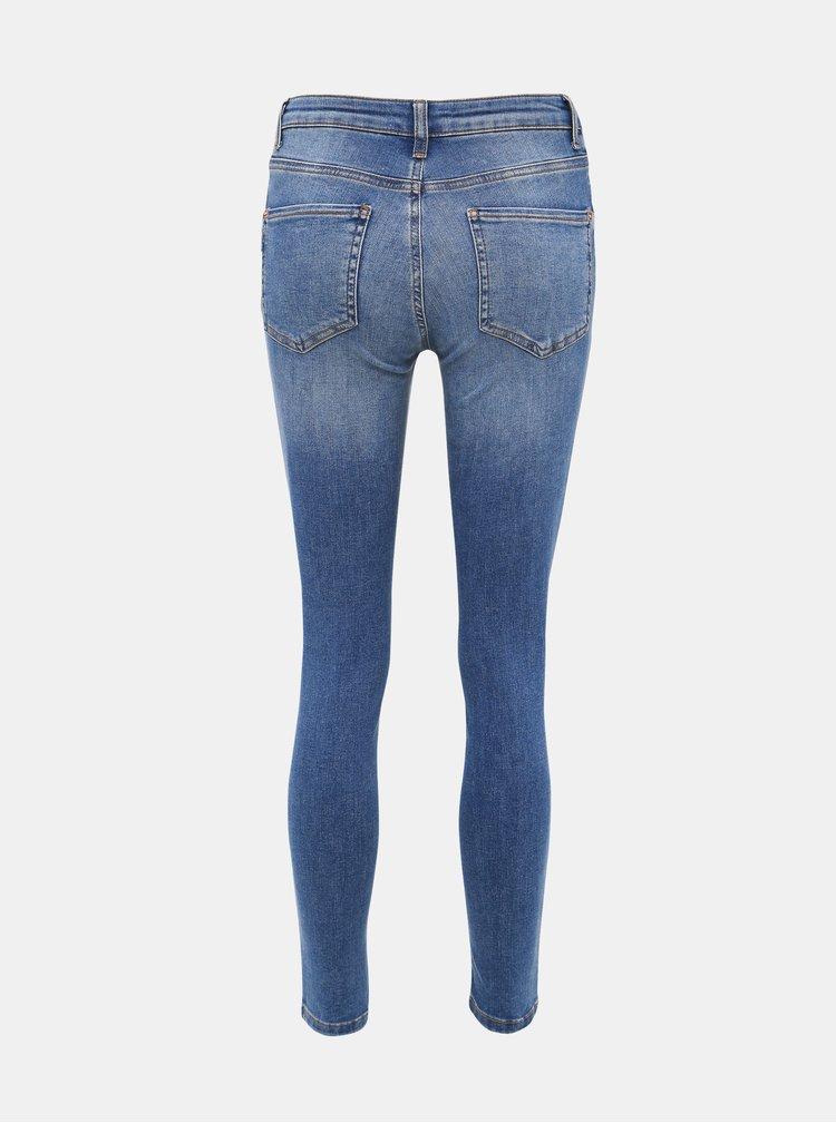 Modré zkrácené skinny fit džíny Dorothy Perkins Alex