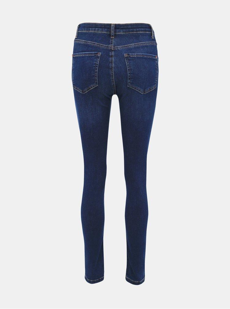 Tmavě modré skinny fit džíny Dorothy Perkins Alex