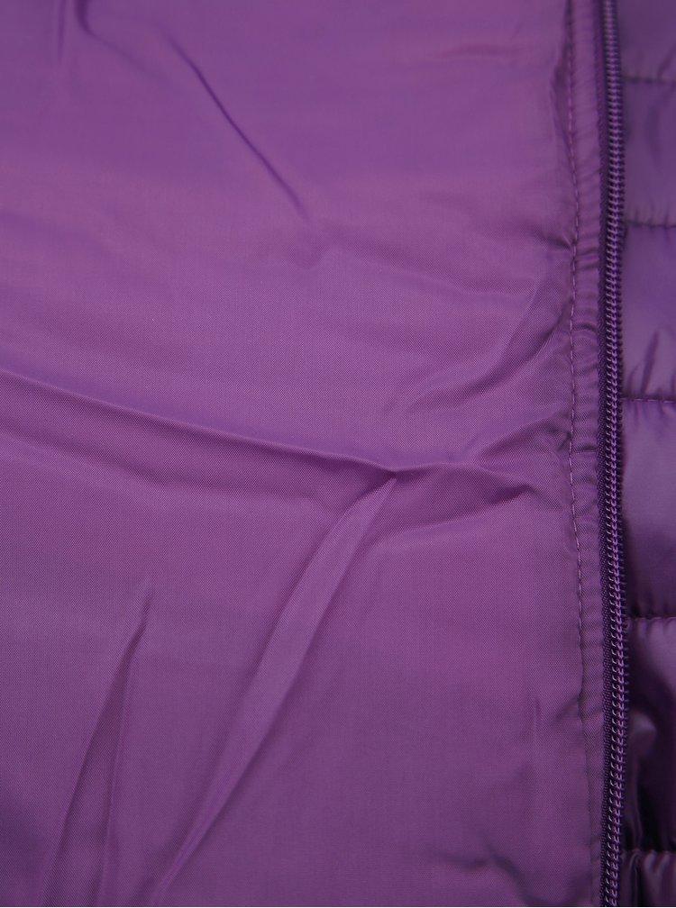Fialová dámska prešívaná vodeodpudivá bunda SAM 73