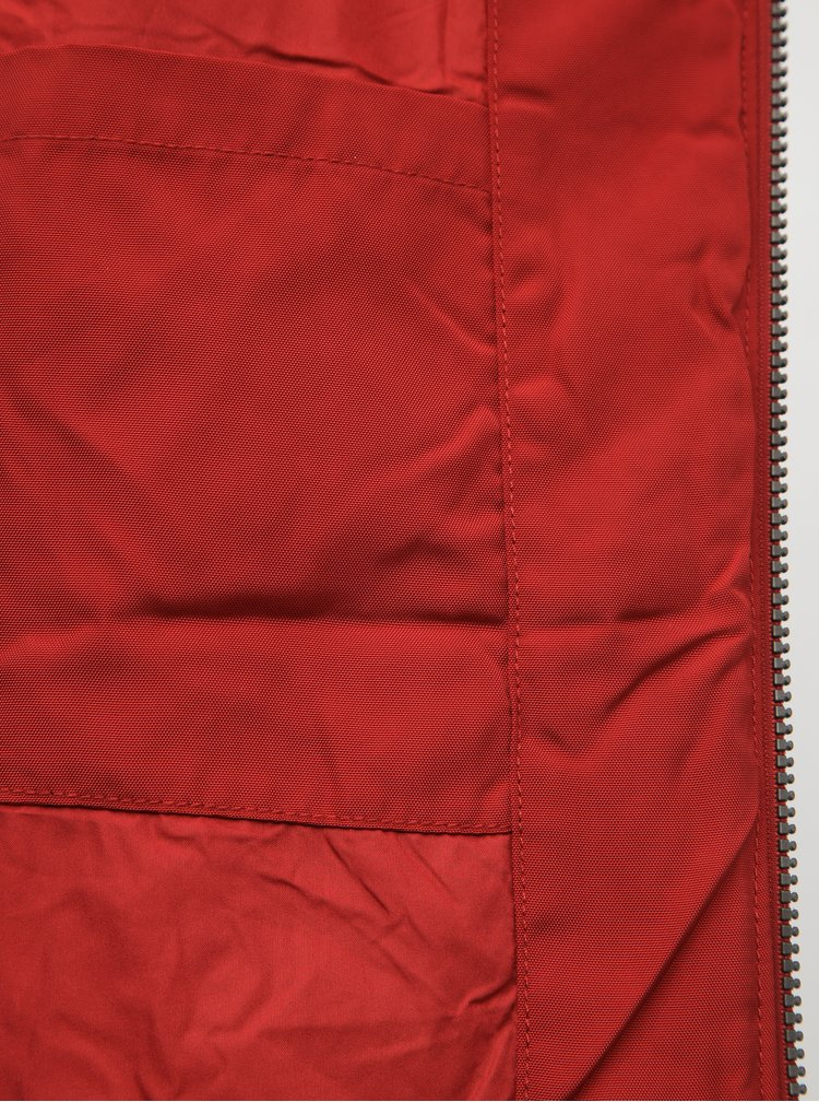 Červená dámska vodeodolná zimná bunda SAM 73