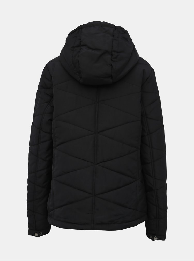 Čierna dámska vodeodolná zimná bunda SAM 73