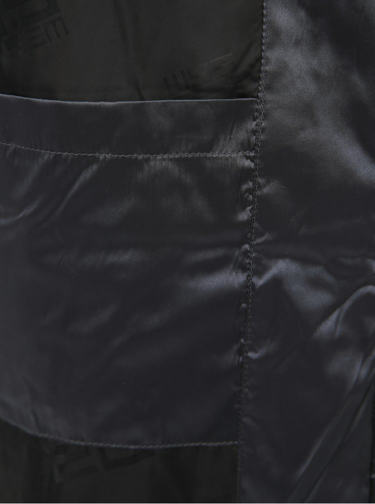 Tmavě šedá pánská prošívaná bunda SAM 73