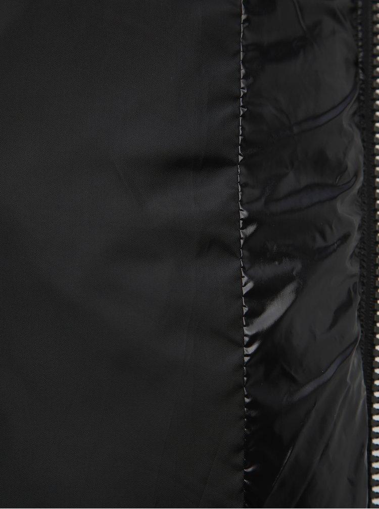 Černá krátká prošívaná bunda Dorothy Perkins