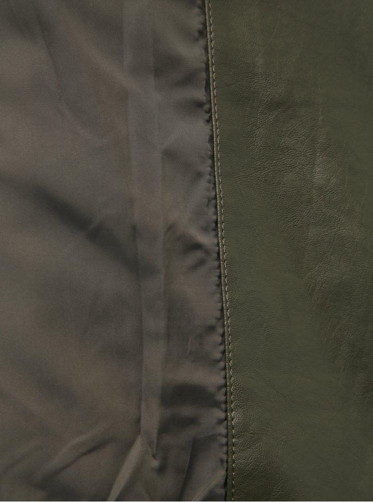Tmavě zelený koženkový křivák Dorothy Perkins