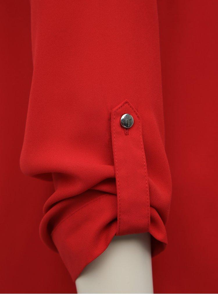 Červená halenka Dorothy Perkins Rols