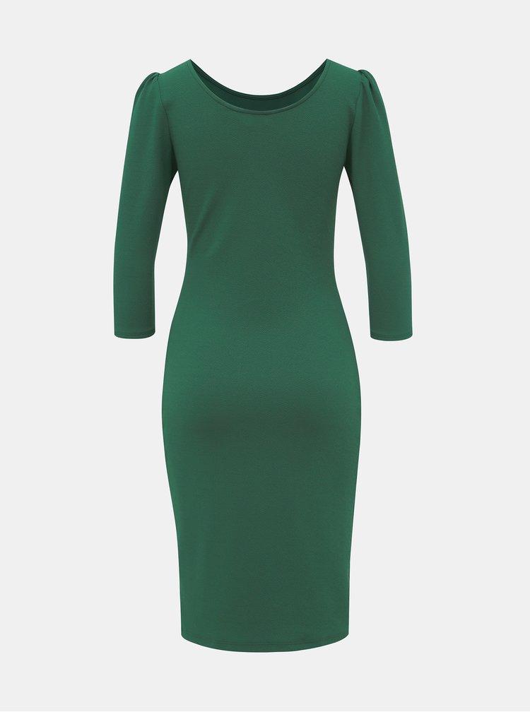 Zelené púzdrové šaty Dorothy Perkins
