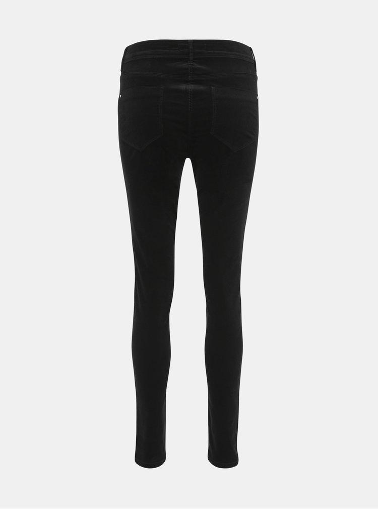 Černé manšestrové kalhoty Dorothy Perkins