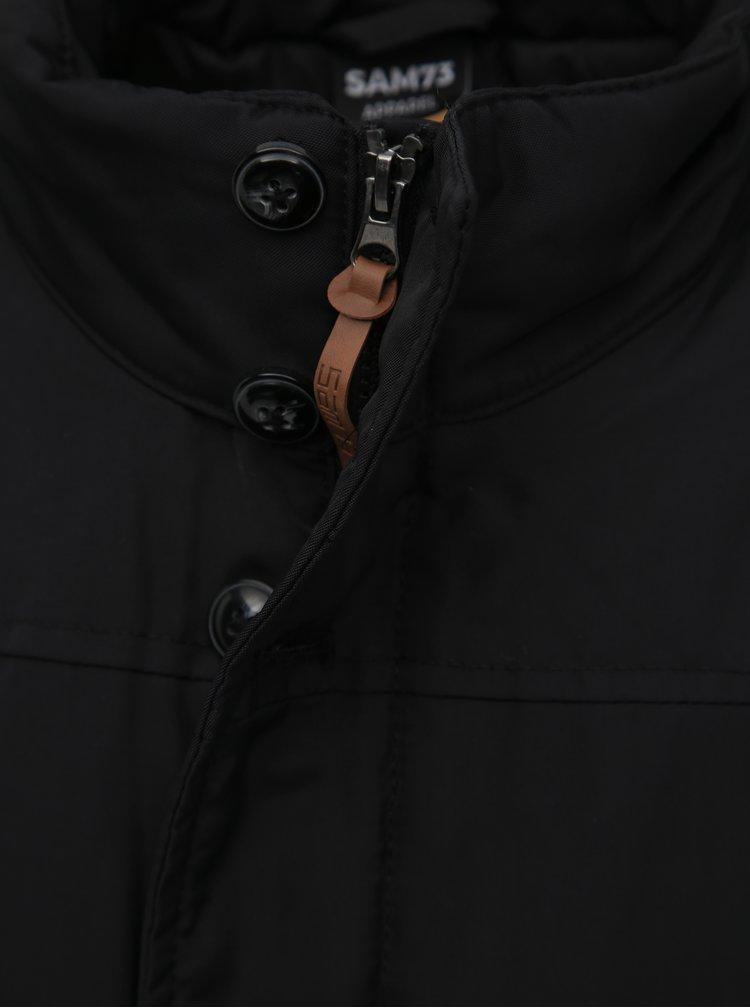 Černá pánská voděodolná zimní bunda SAM 73