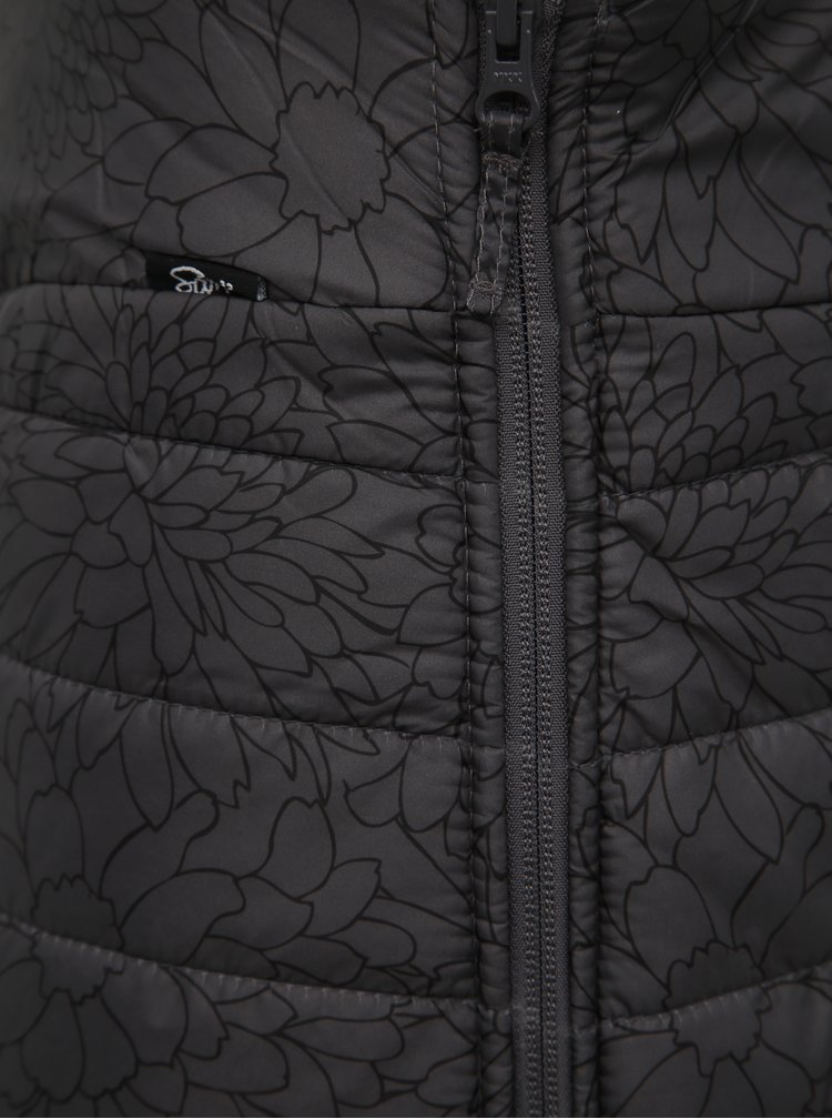 Tmavě šedá květovaná voděodpudivá sukně SAM 73