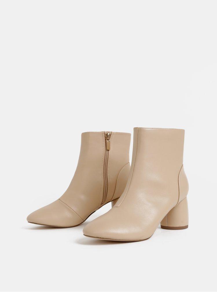 Béžové členkové topánky Dorothy Perkins