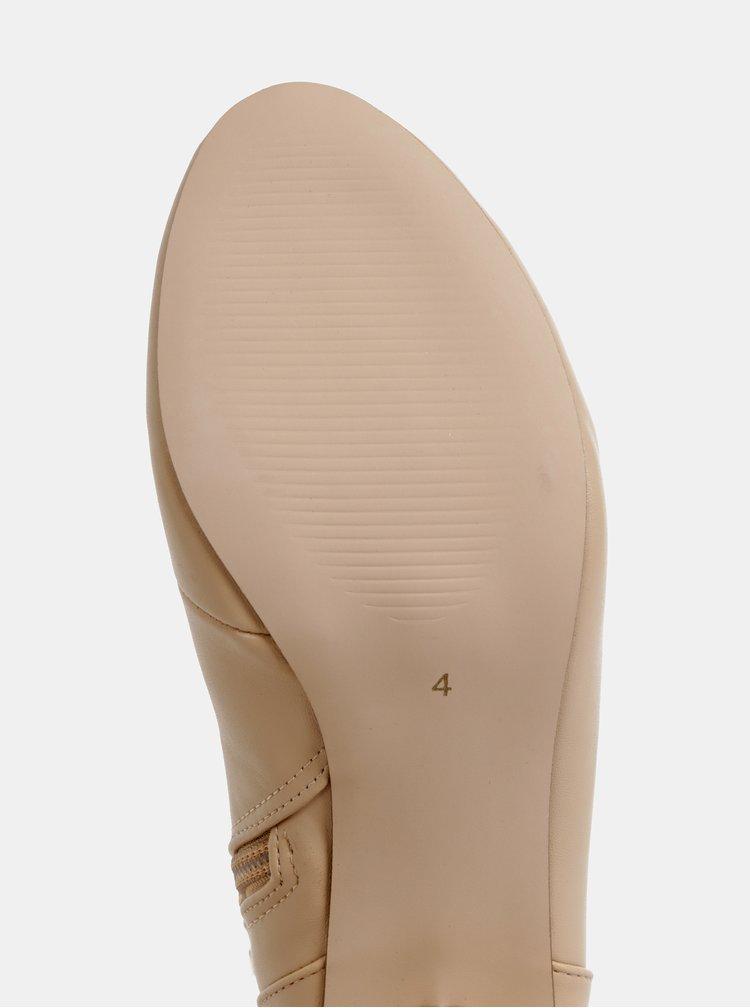 Béžové kotníkové boty Dorothy Perkins